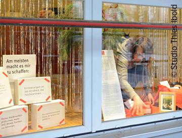 Schaufenster Installation Jahreswechsel